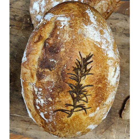 Dre-Korn-Dinkelbrot, im Holzbackofen in der der Terrine gebacken
